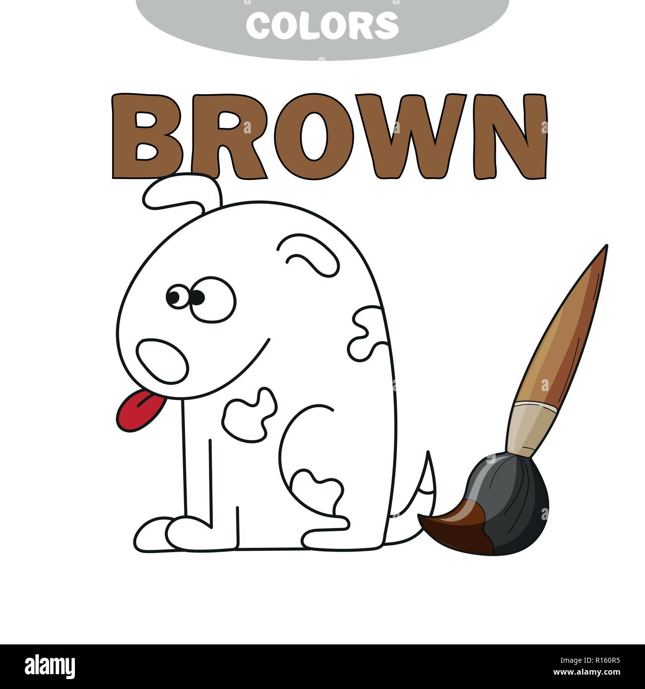 Coloriage Chien Springer.The White Puppy Book Photos The White Puppy Book Images Alamy