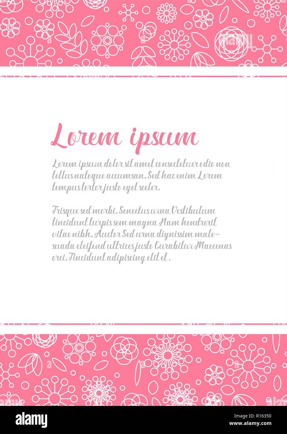 Modele De Lettre D Amour Floral Minimaliste Avec Des Fleurs Simples Realises A Partir De Formes De Base Sur L Arriere Plan Image Vectorielle Stock Alamy