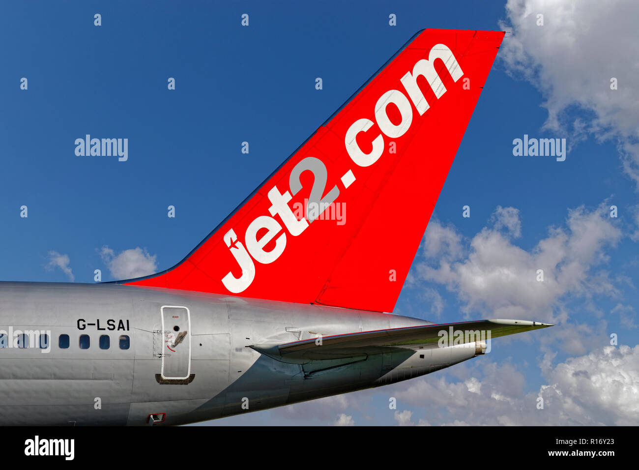 Jet2.Com dérive d'aéronefs. Photo Stock