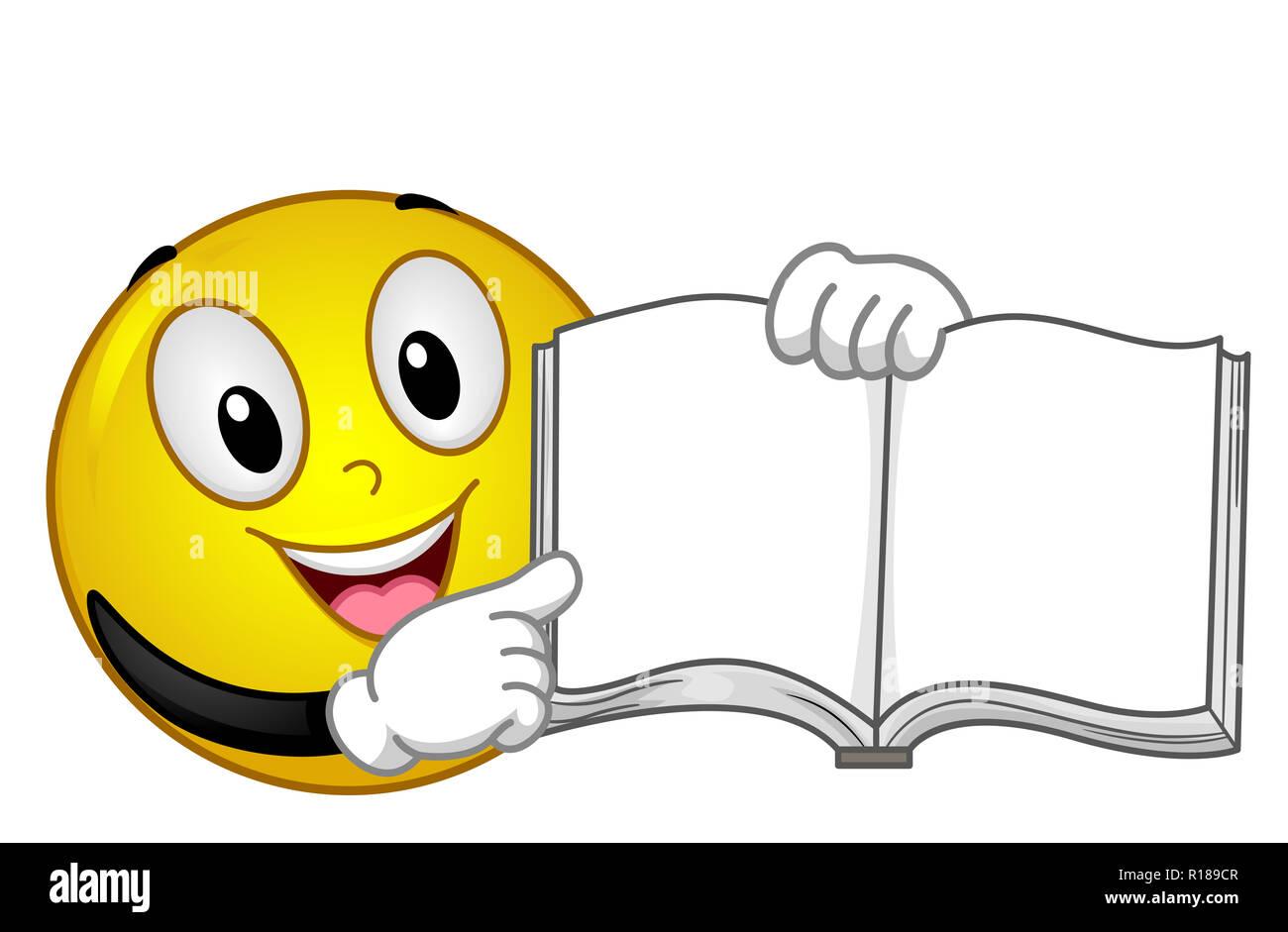 Cartoon Character Book Pointing Photos Cartoon Character