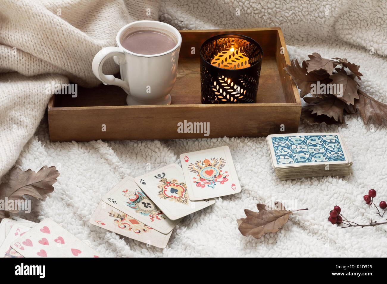 Cartes à jouer vintage composition Photo Stock