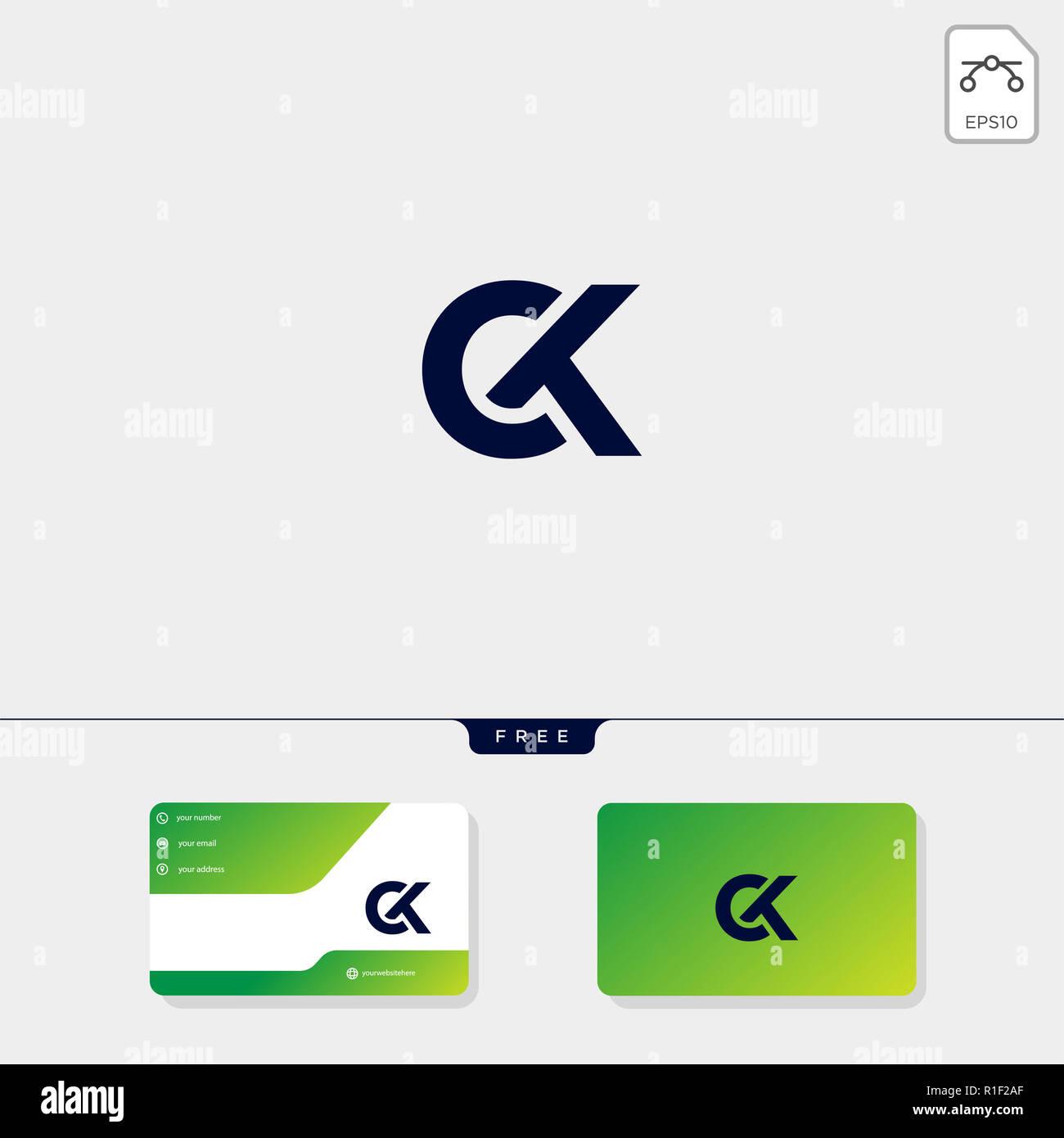 Ck Initial Premium KC C Ou K Creative Modle Logo Et Carte De Visite Conception Vector Illustration Le Dinspiration