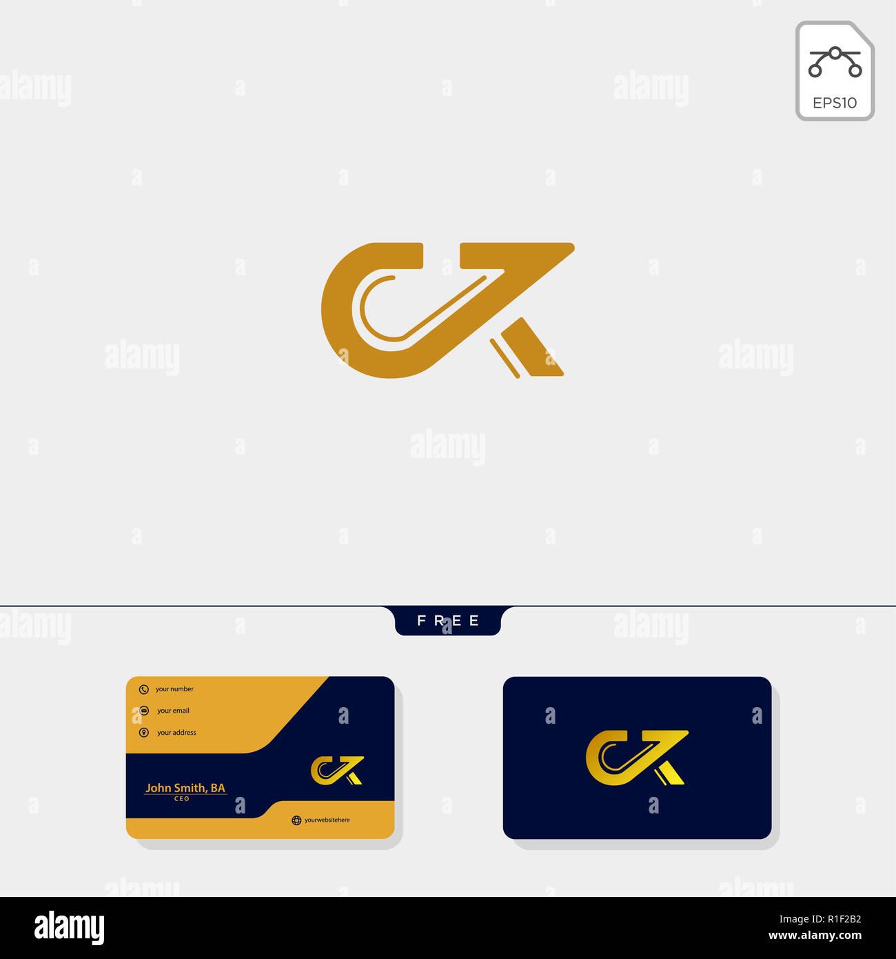 Ck Initial Premium KC C Ou K Creative Modle Logo Et Carte De Visite Conception Vector