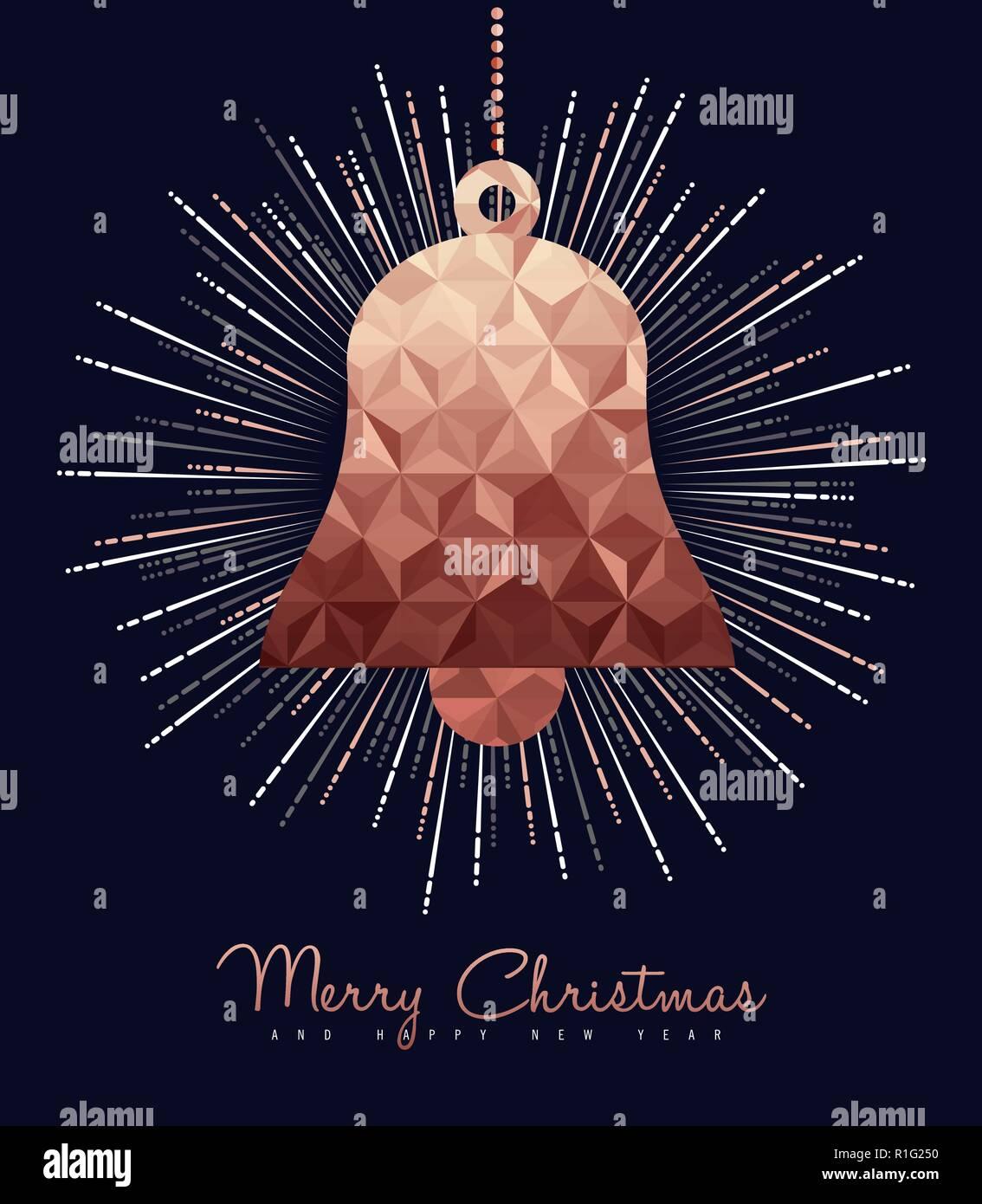 Joyeux Noël et bonne année fantaisie ornement cuivre. Idéal pour
