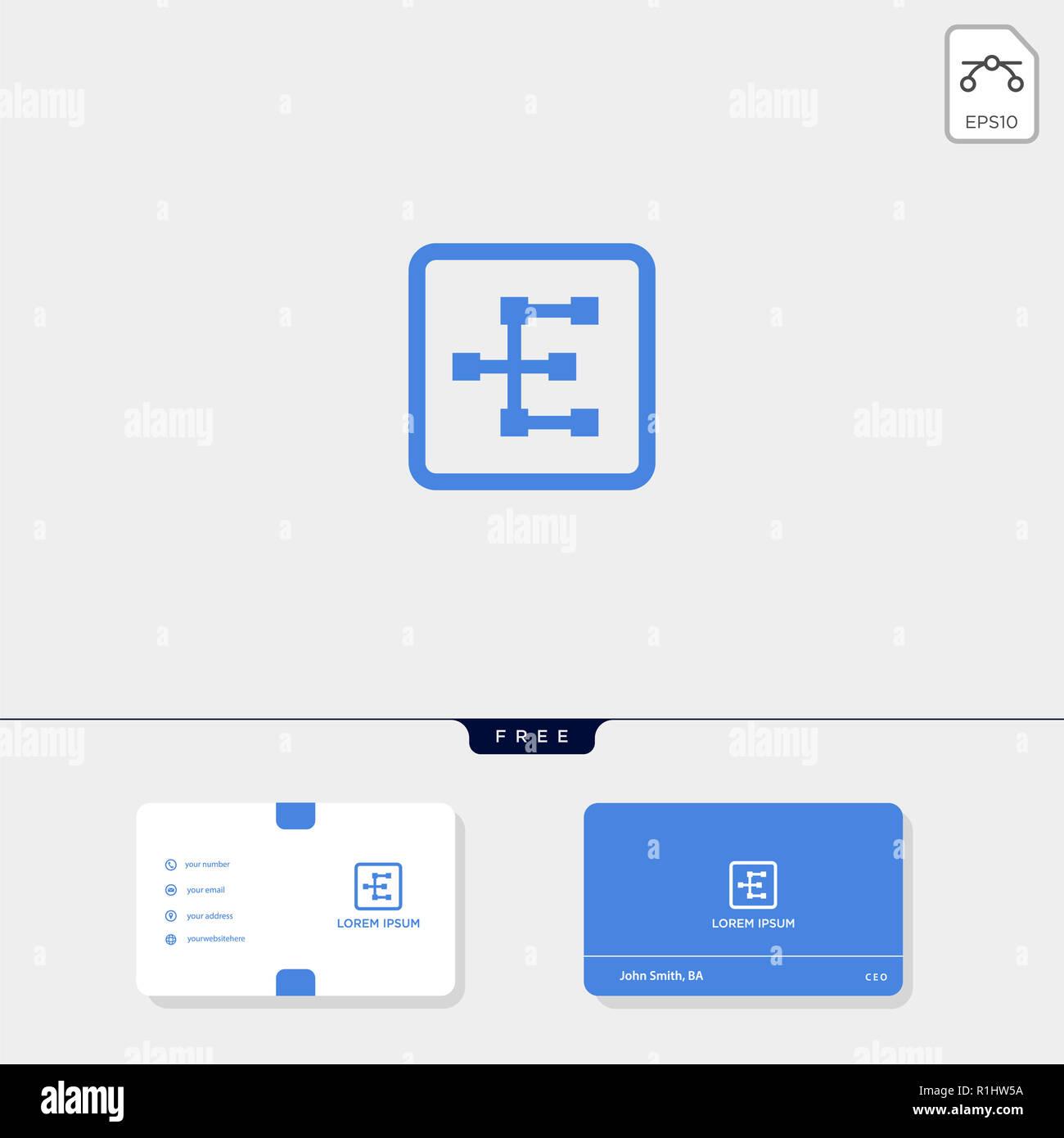 E Initial Premium Creative Modle Logo Et Carte De Visite Conception Vector Illustration Le Dinspiration