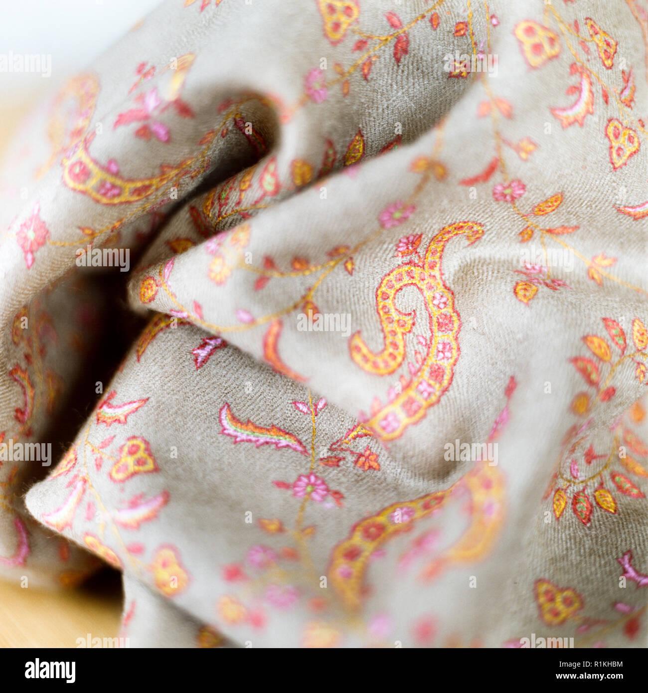 Tissu pour faire pashminas Photo Stock