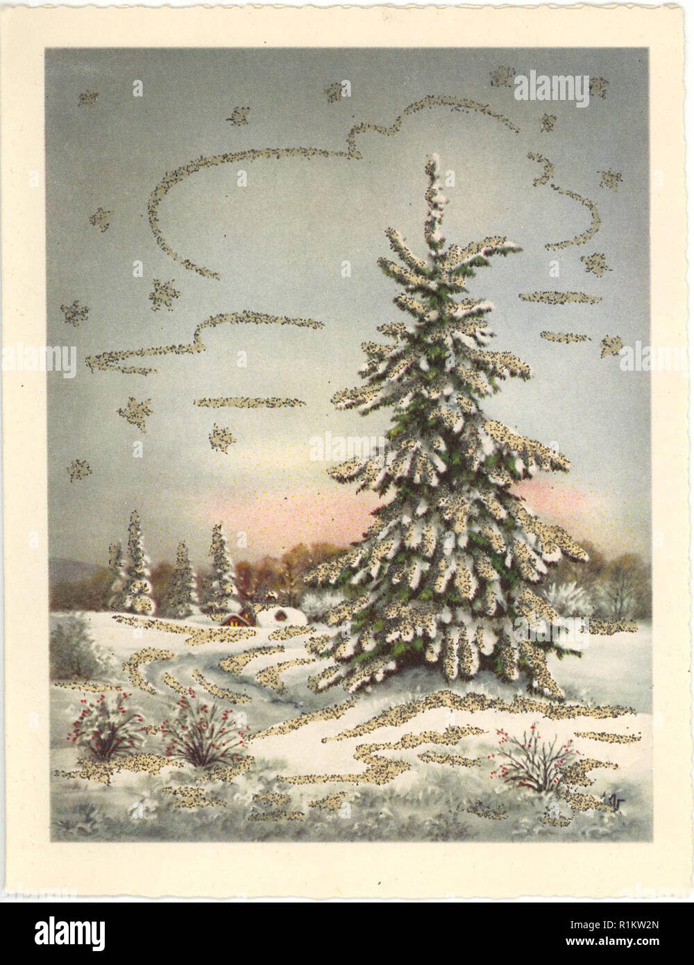 Image Carte Noel Vintage.Carte De Noel Vintage Design Illustre Banque D Images Photo