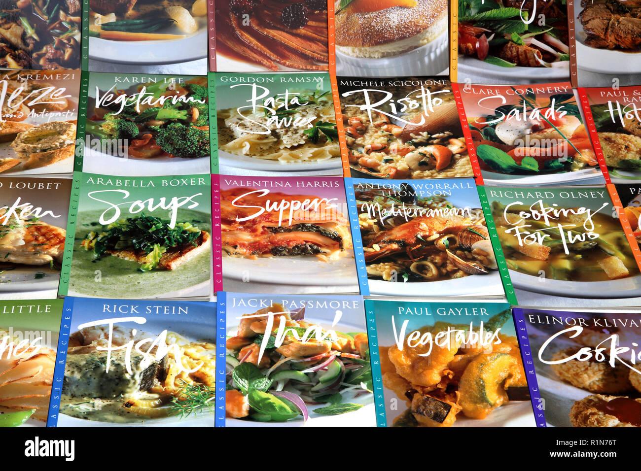 Recette classique Books Photo Stock
