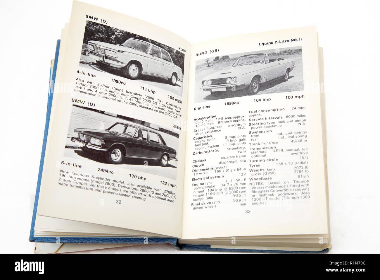 Vieux Livre Le Livre de l'Observateur d'Automobiles Photo Stock