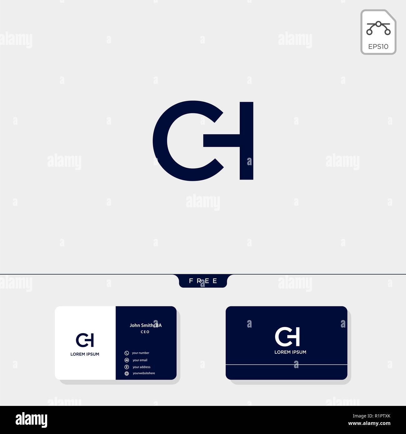 CH Initial Premium SC C Ou H Modle Logo Crative Et Carte De Visite Conception Vector Illustration Le Dinspiration