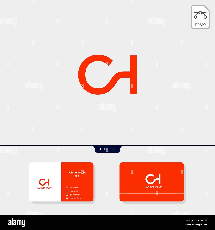 CH Initial Premium SC C Ou H Modele Logo Creative Et Carte De
