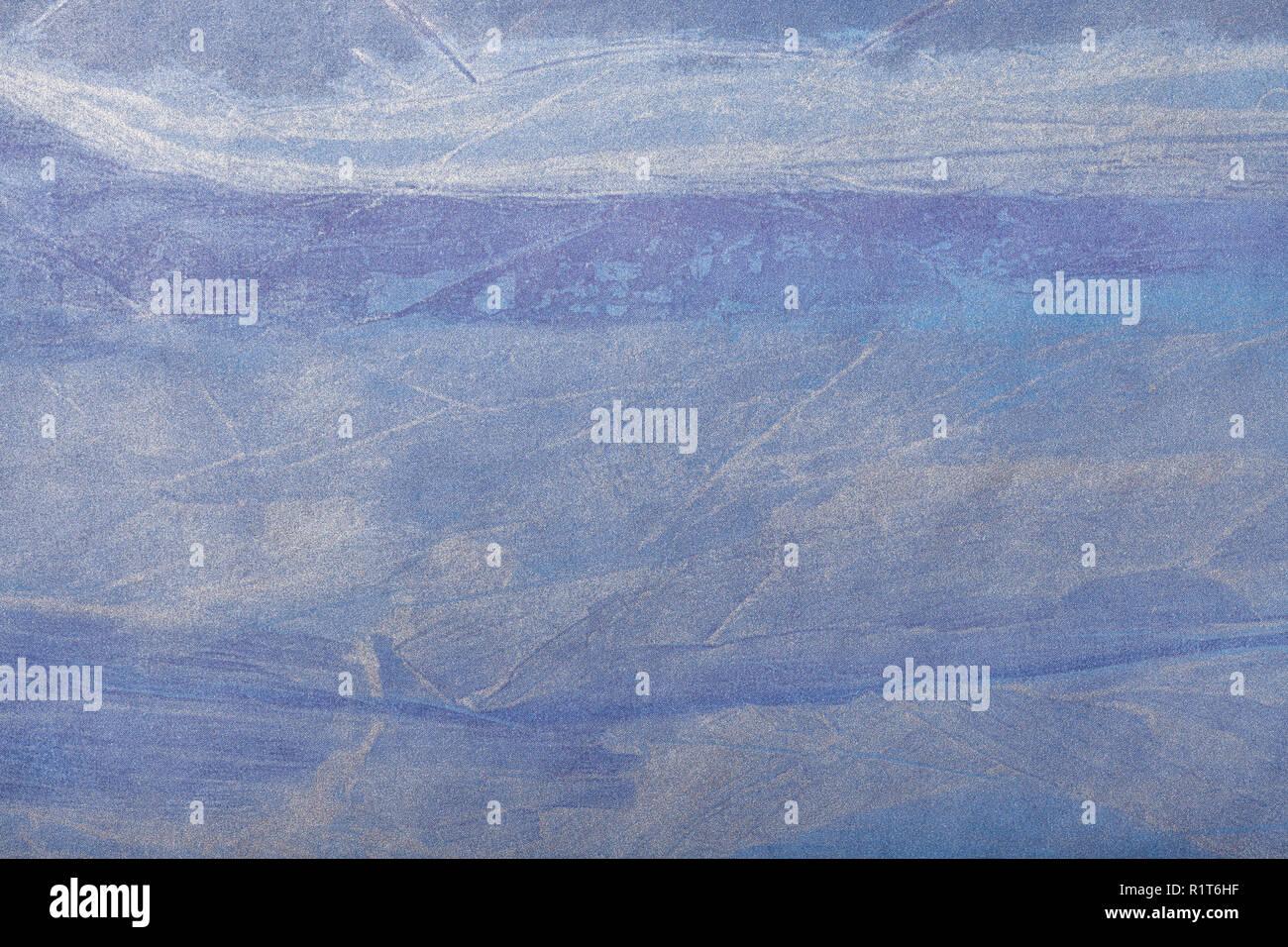 abstrait art fond bleu marine et couleur argent. peinture sur toile