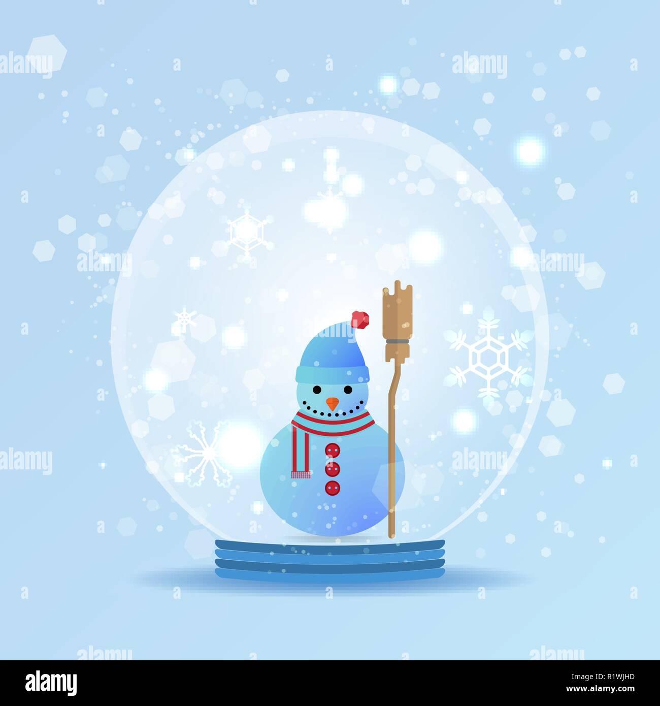 Mignon Bonhomme de neige en forme de dôme snowglobe Décoration-Bonhomme de neige snow globe-Cadeau de Noël