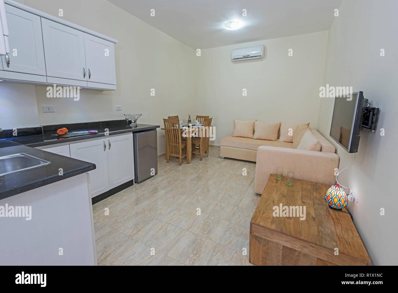 Salle de séjour coin salon dans un appartement de luxe show accueil ...