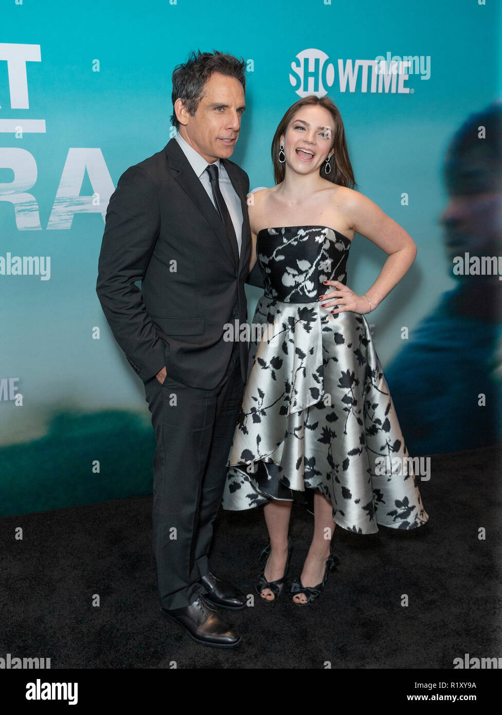 New York, États-Unis. 14Th Nov, 2018. Ben Stiller et Ella Olivia Stiller assister à la première de la série de Showtime s'échapper à Dannemora au Alice Tully Hall du Lincoln Center Crédit : Lev Radin/Pacific Press/Alamy Live News Banque D'Images