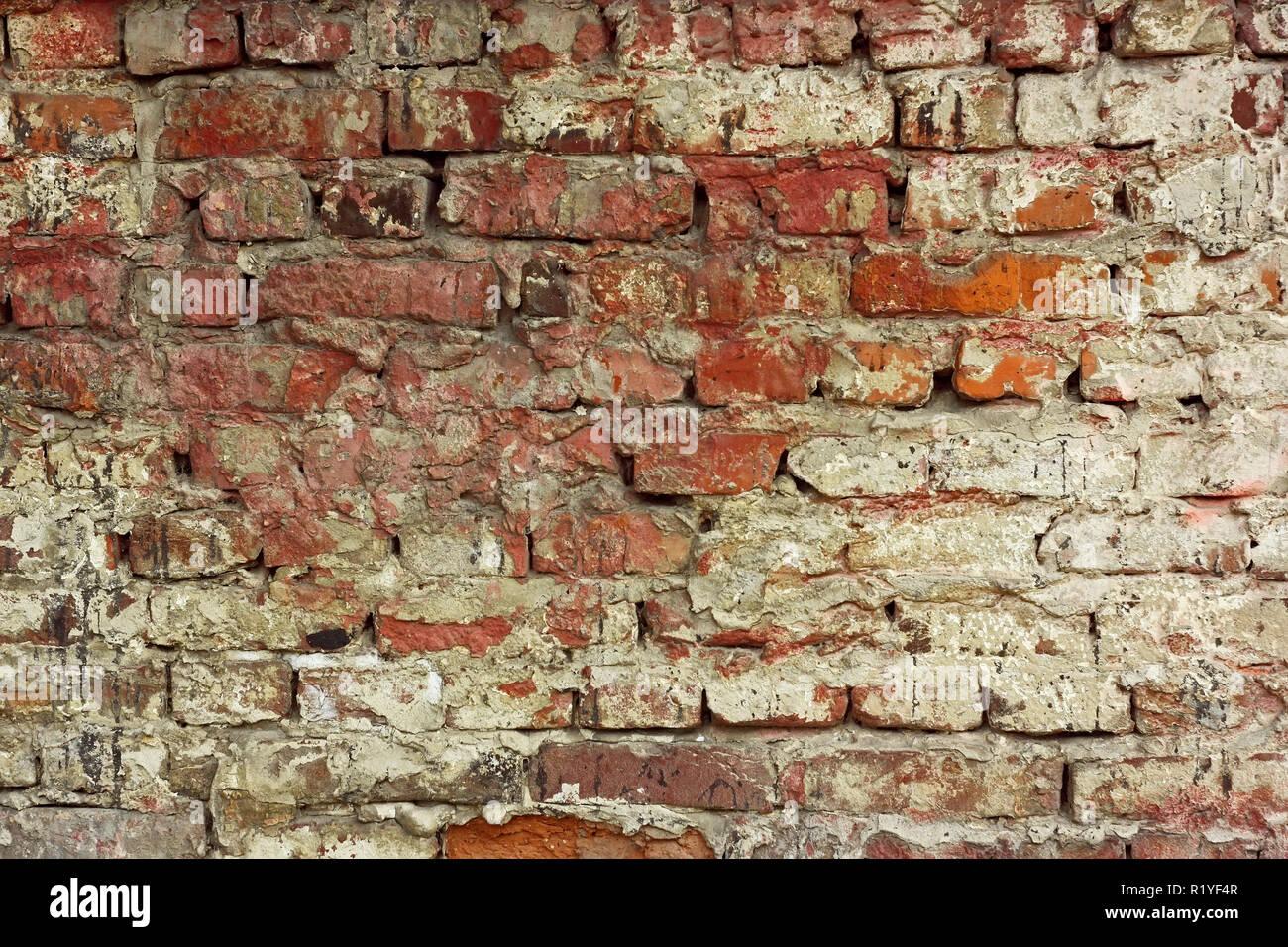 Fragment De L Ancien Mur De Briques Avec Les Couches De