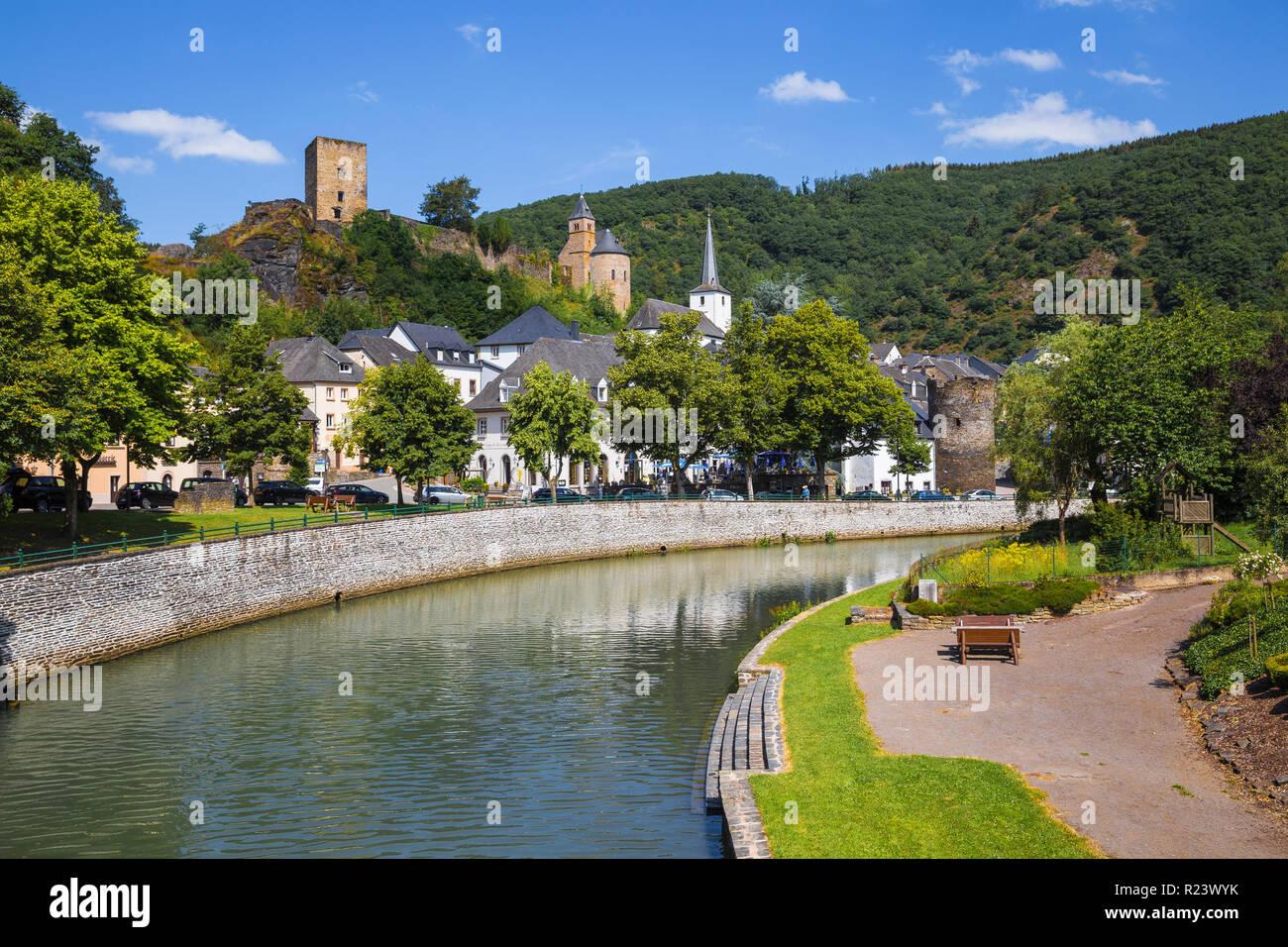 Esch-sur-Sûre, Luxembourg, Europe Photo Stock