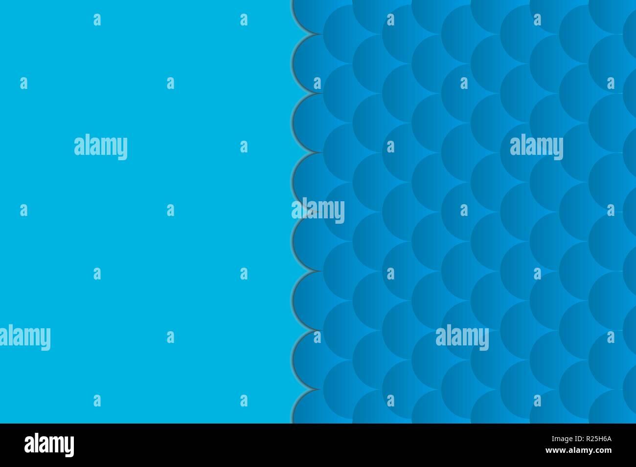Résumé Contexte géométrique sur le thème de la mer. vagues de bleu motif ou texture lisse. Avec un espace réservé au texte Illustration de Vecteur