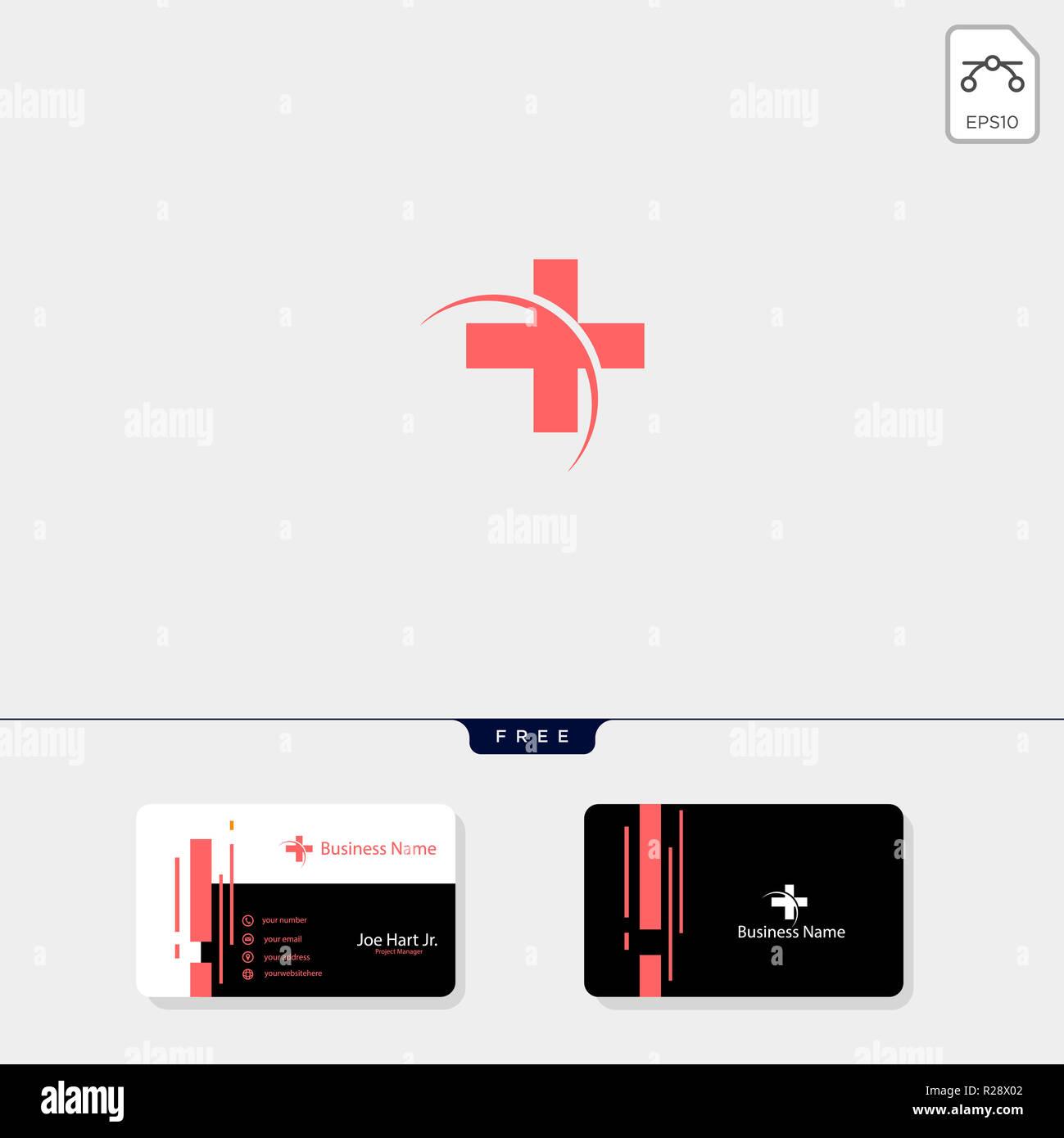 Cross Medical Pharmacy Logo Design Templatevector Illustrator Obtenez Gratuitement Un Modele De Conception Carte Visite