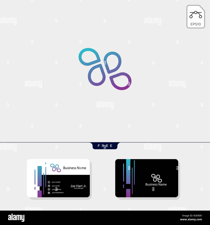 Un Minimum De Ligne Logo Fluide Vecteur Illustration Modle Carte Visite Libre