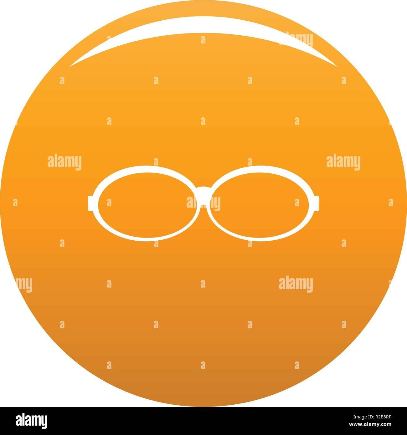 d5d368c463b Icône lunettes ovales. Simple illustration de lunettes ovales icône vecteur  pour tout modèle orange
