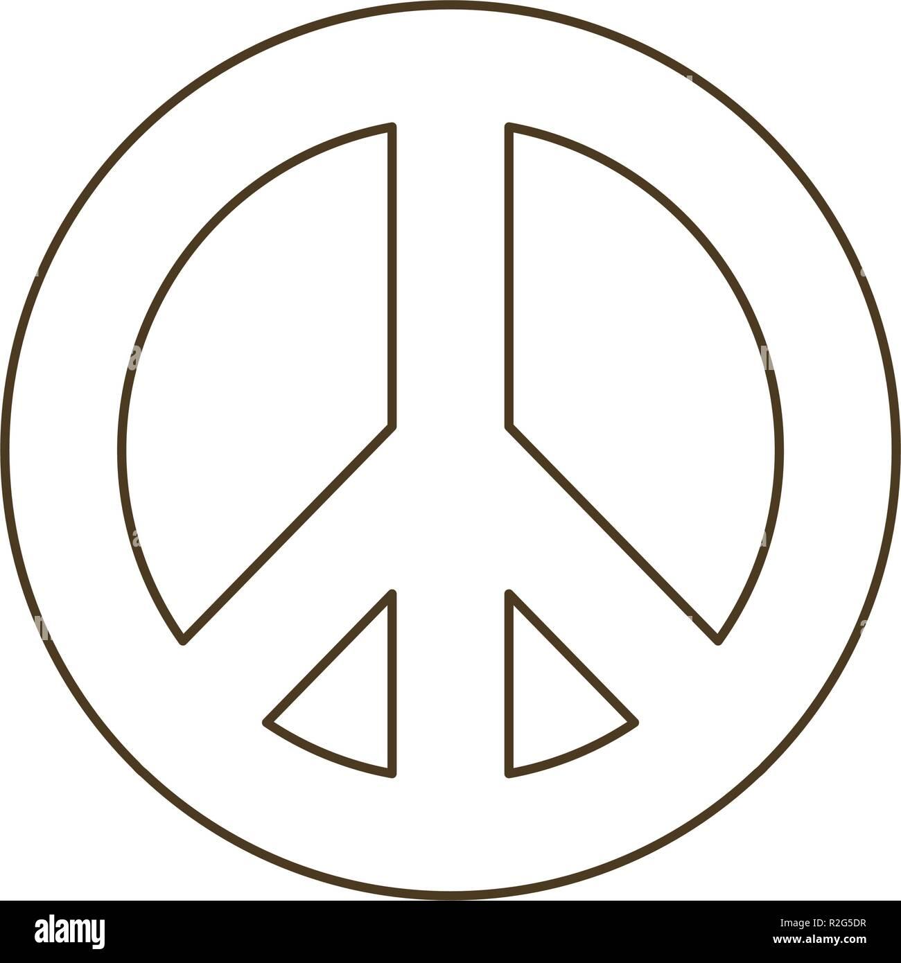 Symbole de l'amour et la paix icône isolé Photo Stock