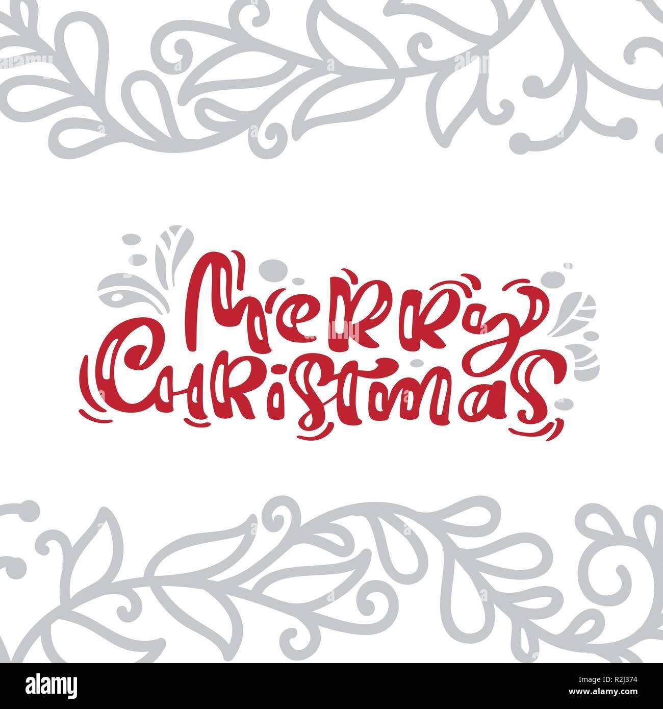 Joyeux Noel Carte Vintage Lettrage Calligraphie Le Texte Vectoriel