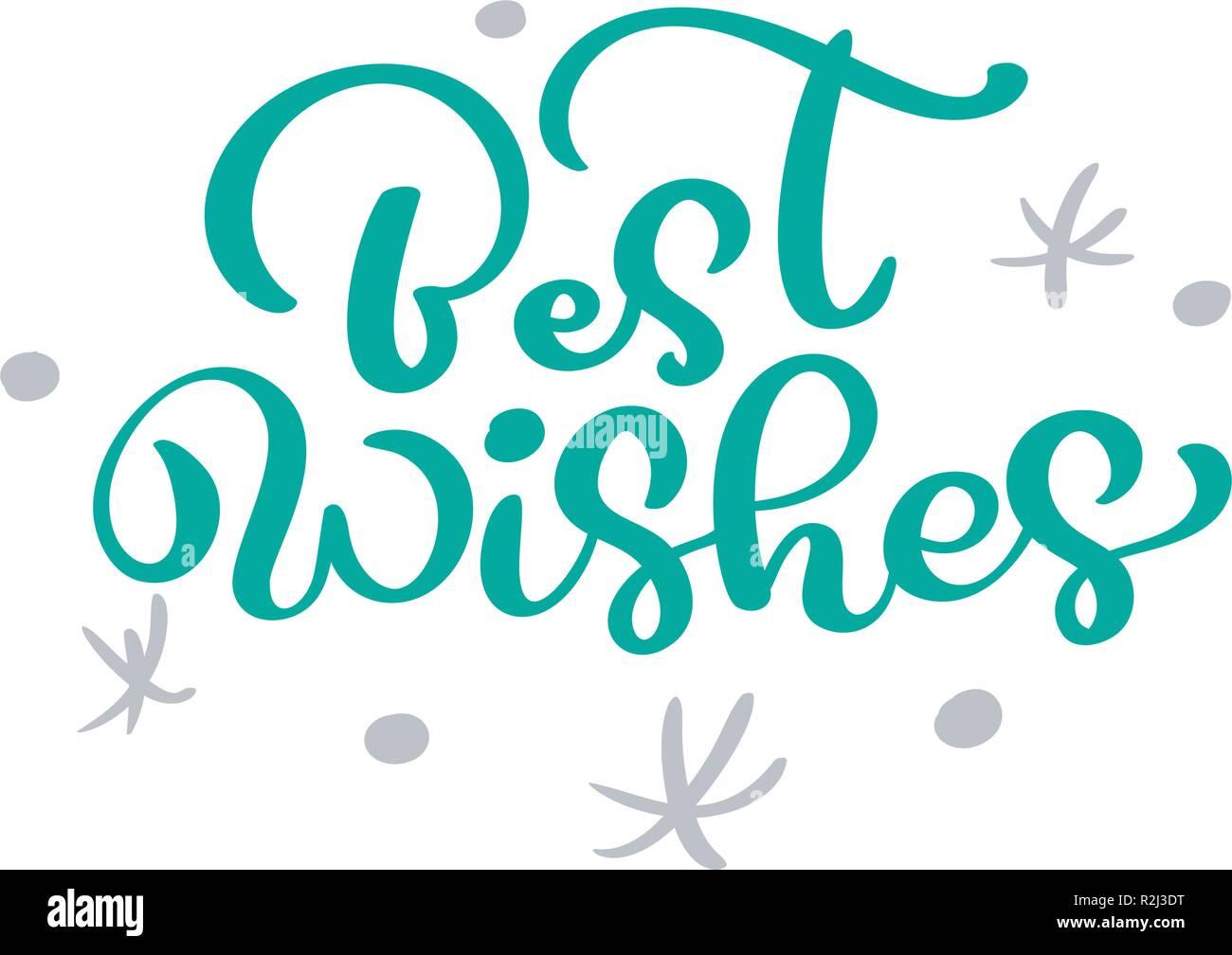Meilleurs Voeux Noël Vintage Lettrage Calligraphie Le Texte