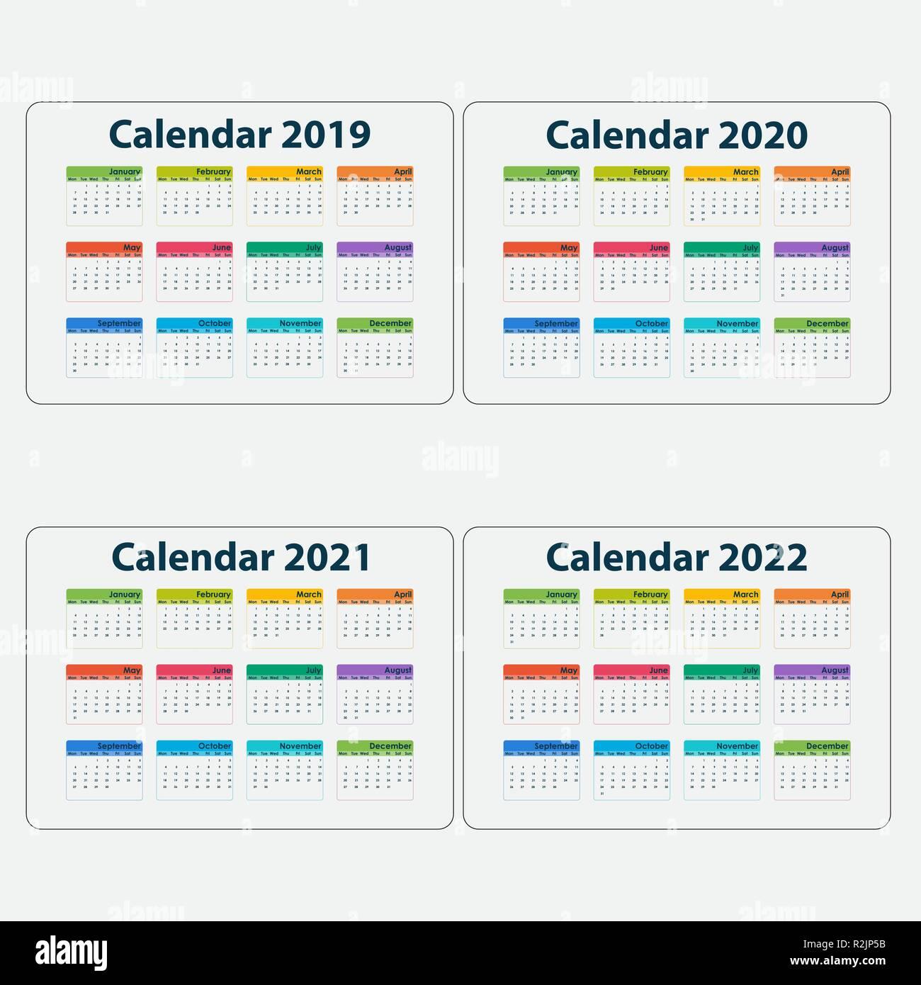 Calendrier 2021 Avec Semaine.Calendrier 2019 Calendrier 2020 Calendrier 2021 Et 2022