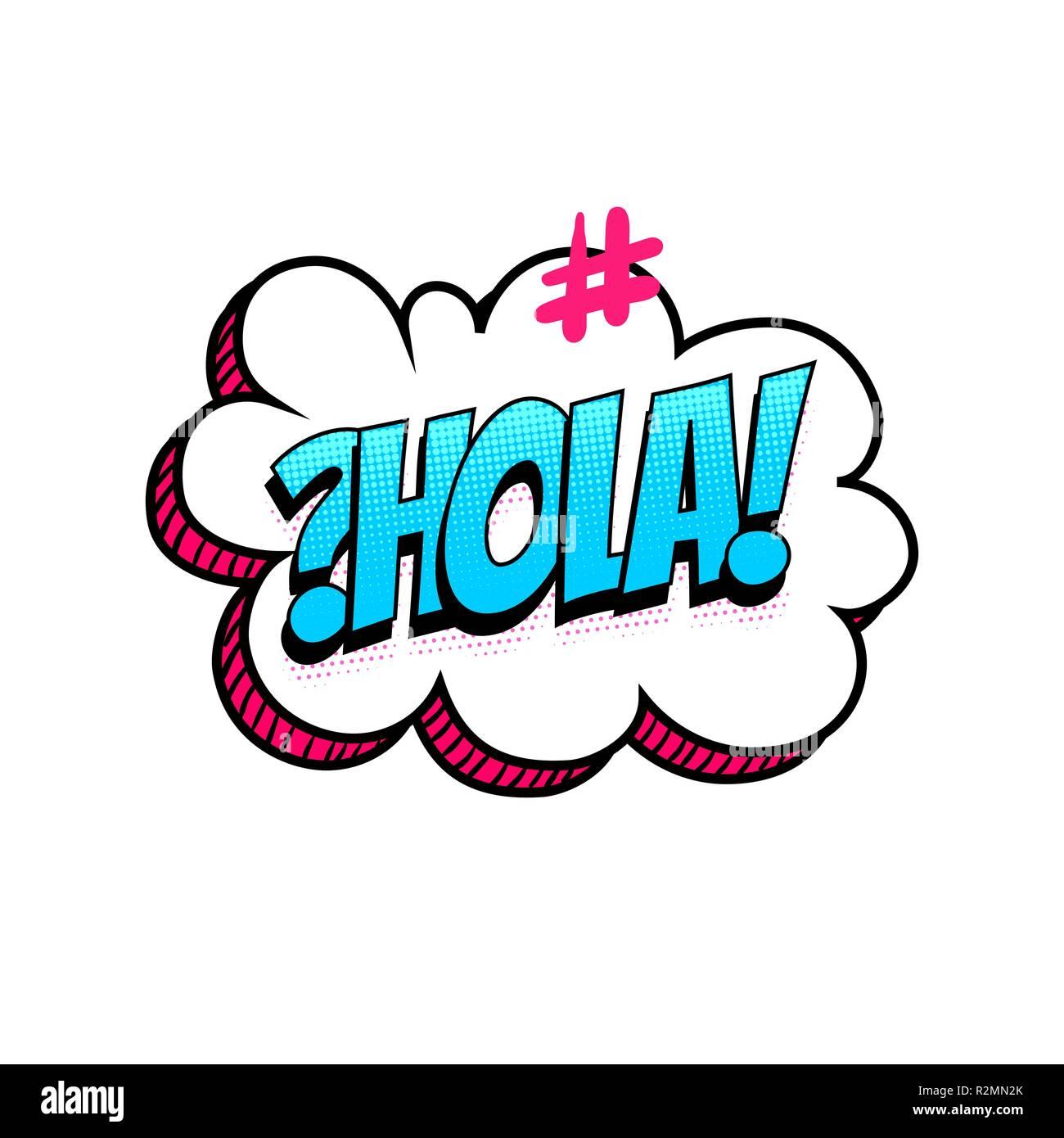 Hola Bonjour Bonjour La Langue Espagnol Hashtag Texte