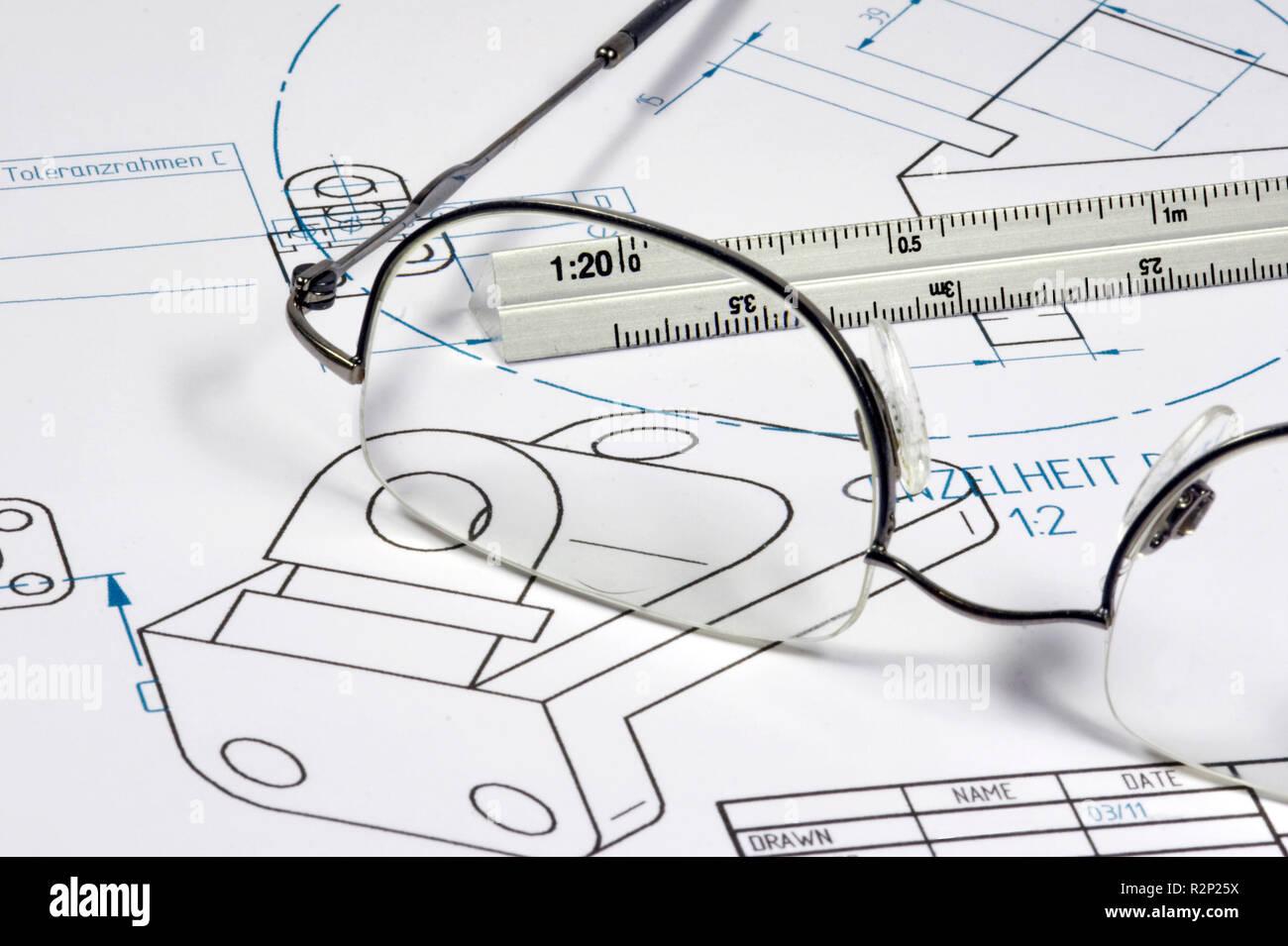 Génie mécanique Banque D'Images