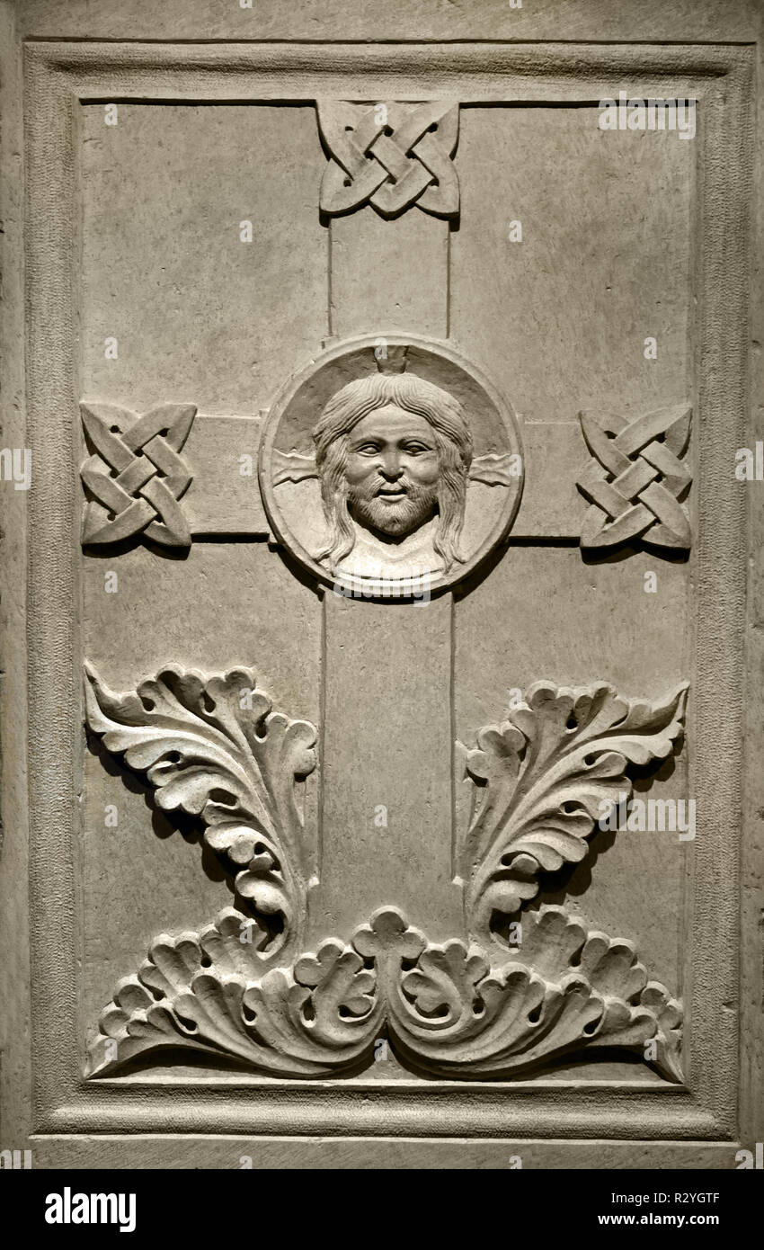 Maître de l'Italie du nord, la croix avec tendue du Rédempteur, XIII ème siècle, l'Italie, l'italien, Photo Stock