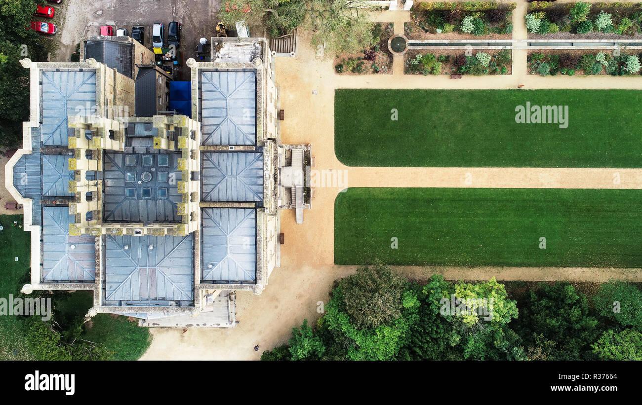 Drone abattu de Kingsweston House, Bristol, Royaume-Uni Banque D'Images