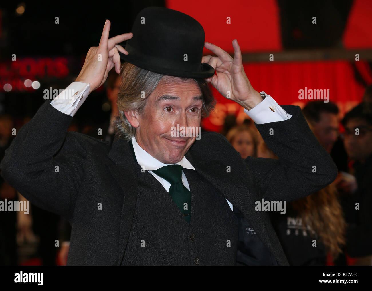 La 62e BFI London Film Festival World Premiere de 'Stan & Ollie' tenue à l'Cineworld Leicester Square - Arrivées avec: Steve Coogan Où: London, Royaume-Uni Quand: 21 Oct 2018 Crédit: Mario Mitsis/WENN.com Photo Stock