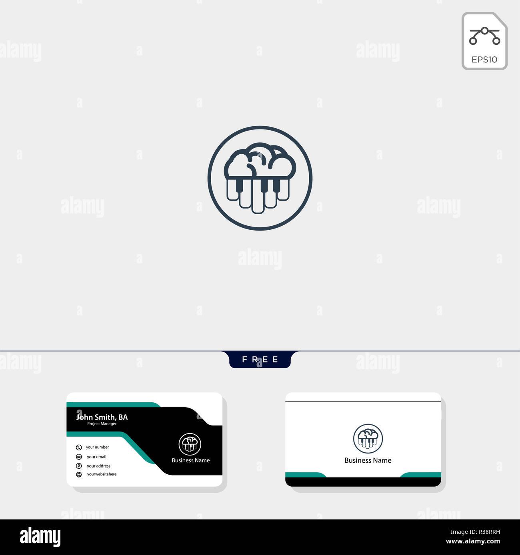 Cerveau Et Le Concept De Piano Modle Logo Entreprise Pour Vector Illustration Conception Carte Visite Gratuit