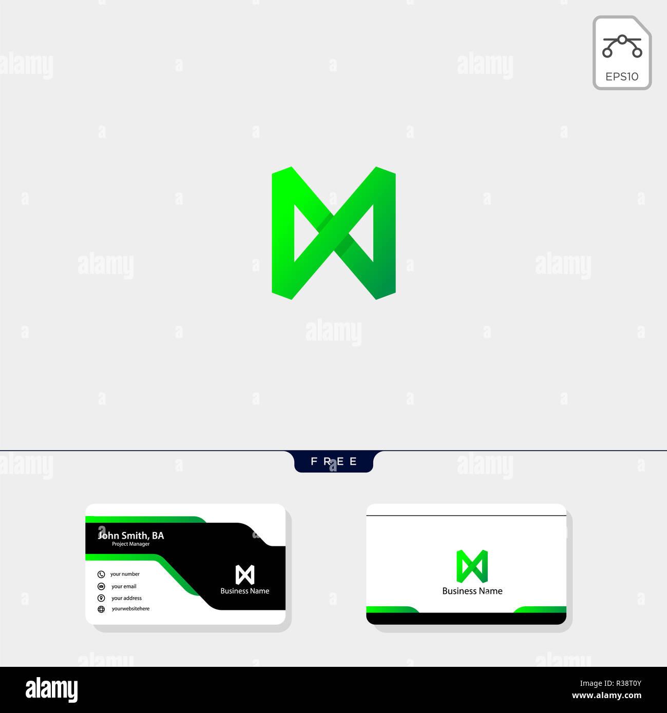 Logo Monogramme M Initiale Modle Vector Illustration Votre Carte De Visite Design