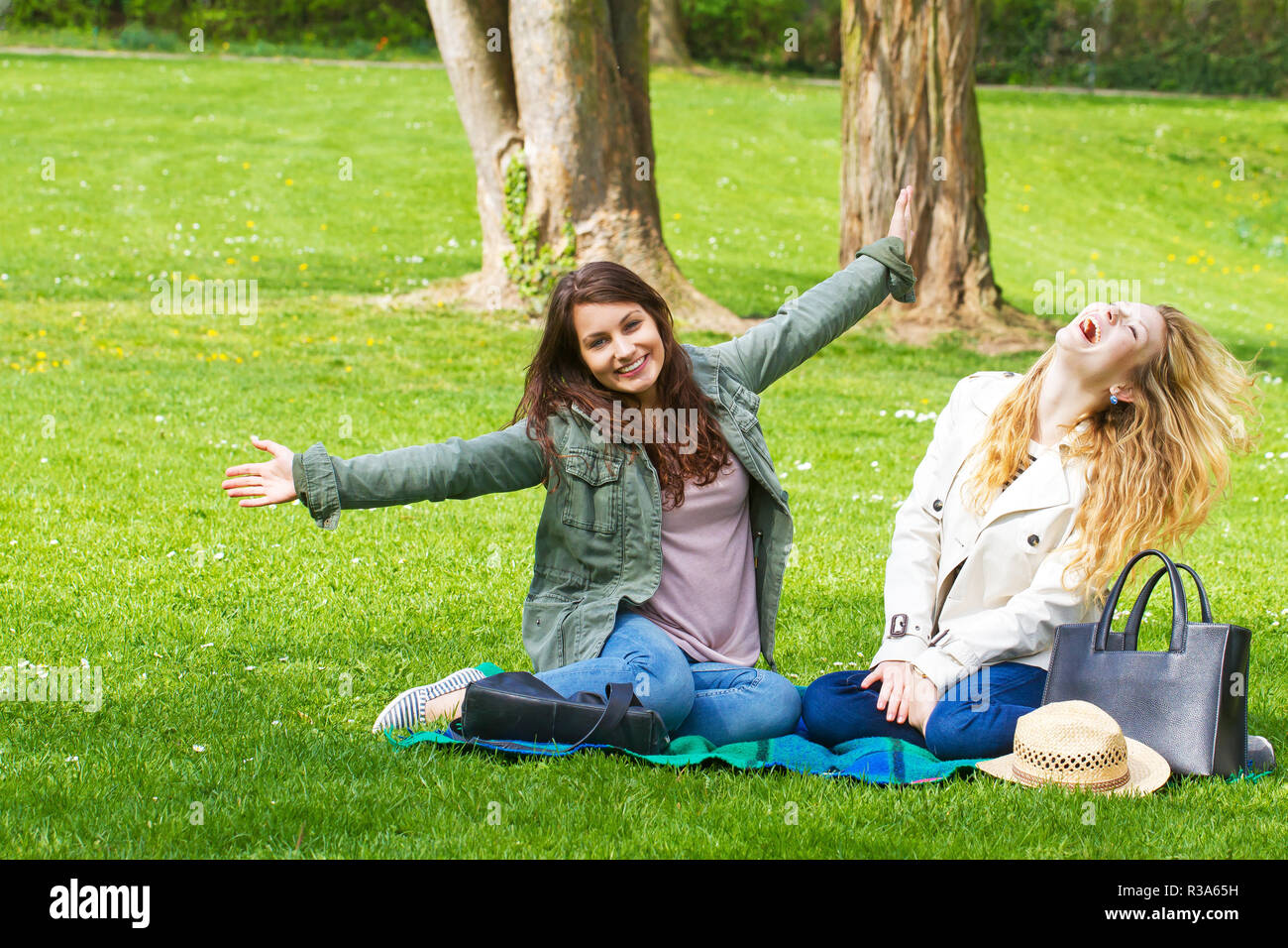 Fun dans le parc Photo Stock