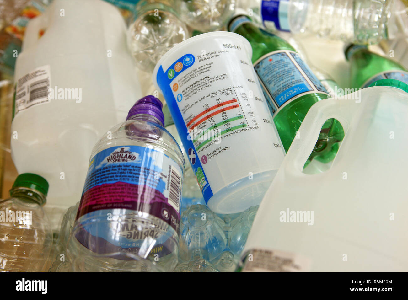 Recyclage plastique Banque D'Images
