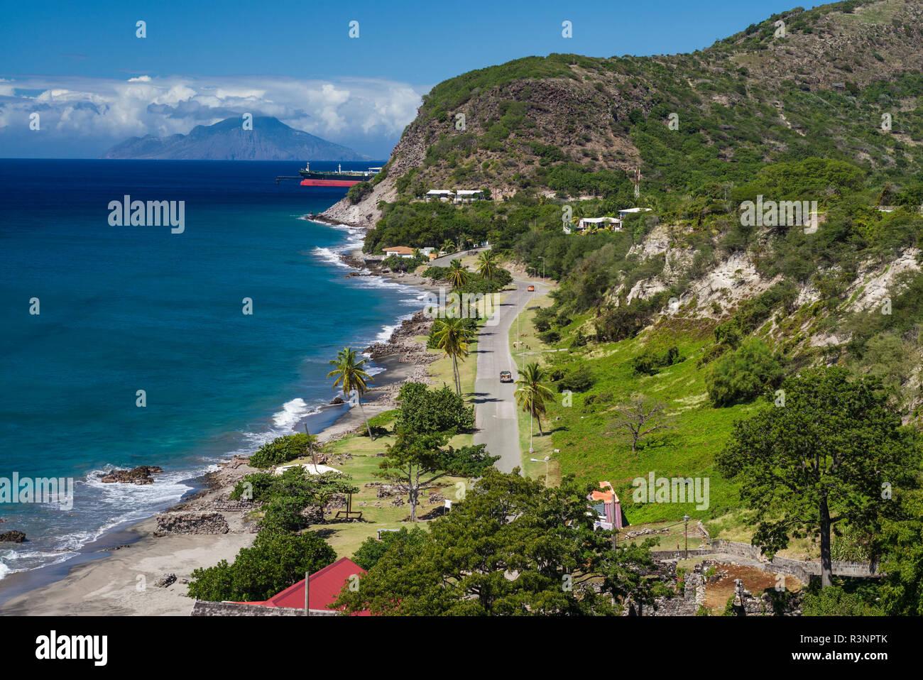 Saint Eustache. Oranjestad Bay Banque D'Images
