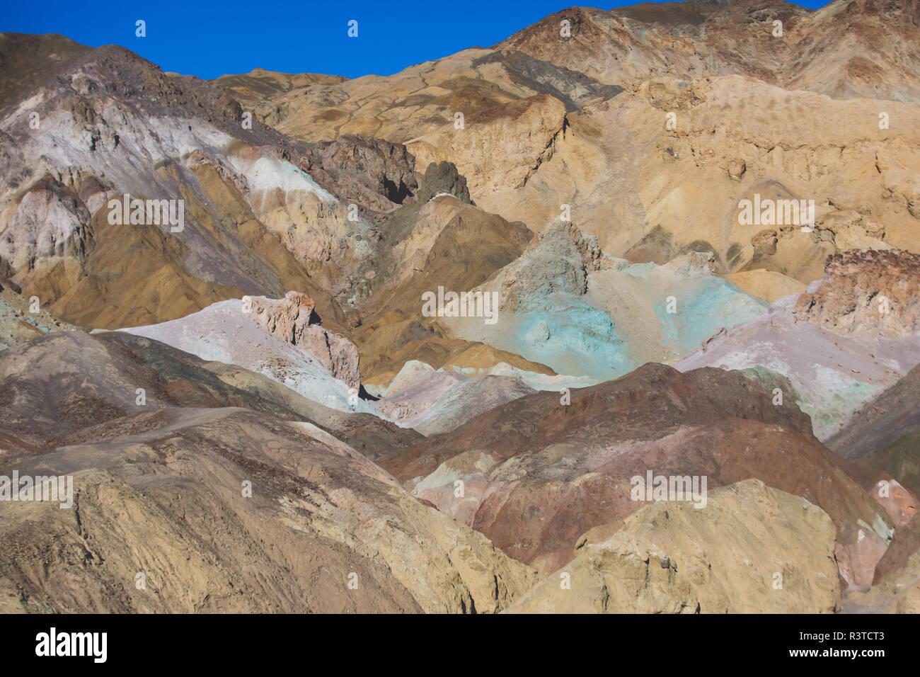 Vue de la palette d'Artistes Artistes en dur dans la Death Valley National Park, Death Valley, comté d'Inyo, California, USA Banque D'Images