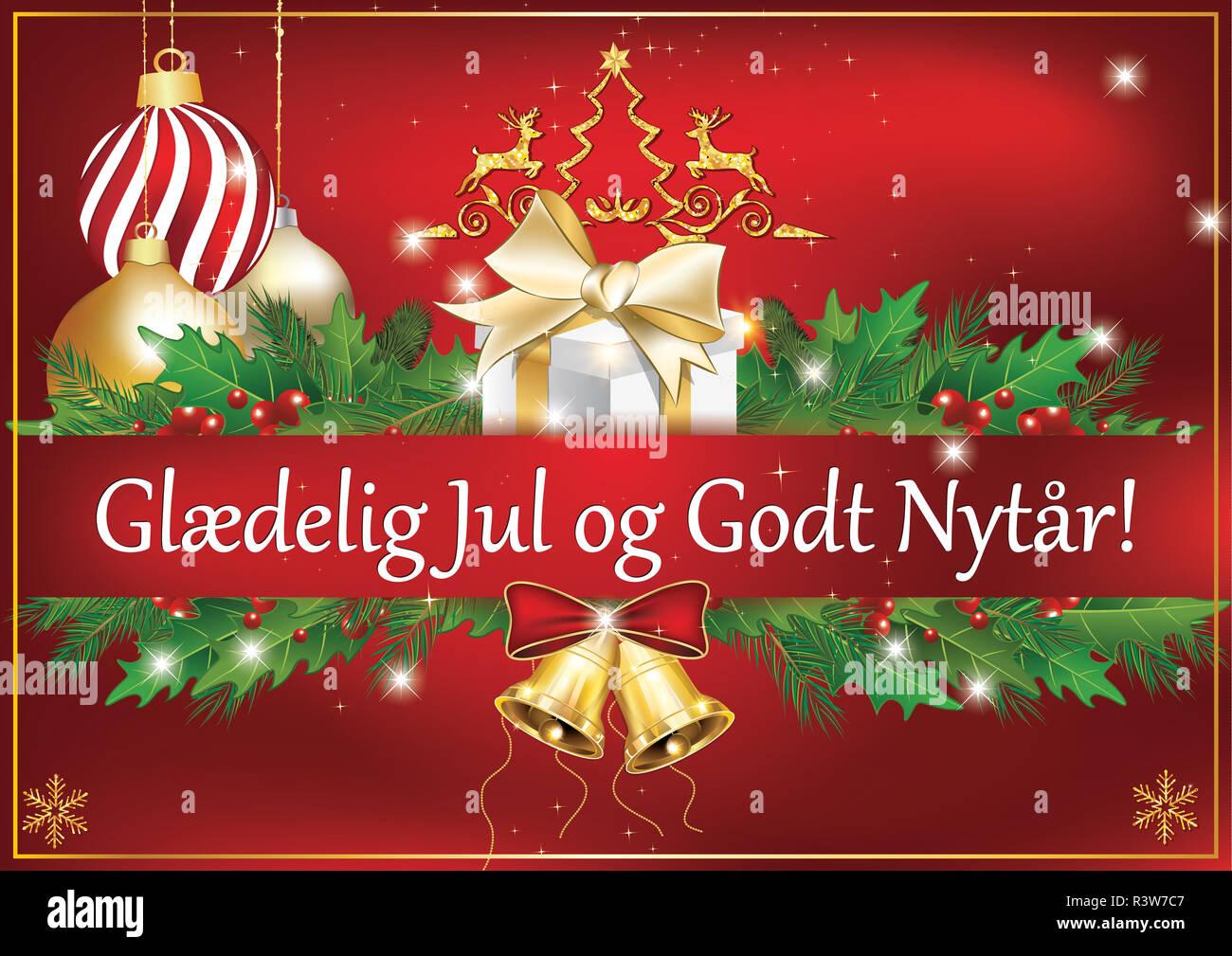 Carte De Voeux Classique Pour Noël Et Nouvel An Le Message