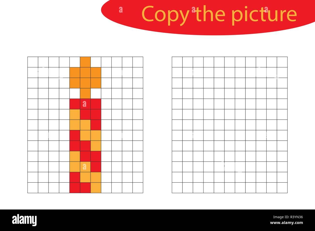 Copier La Photo Pixel Art Bougie De Noël Dessin Animé