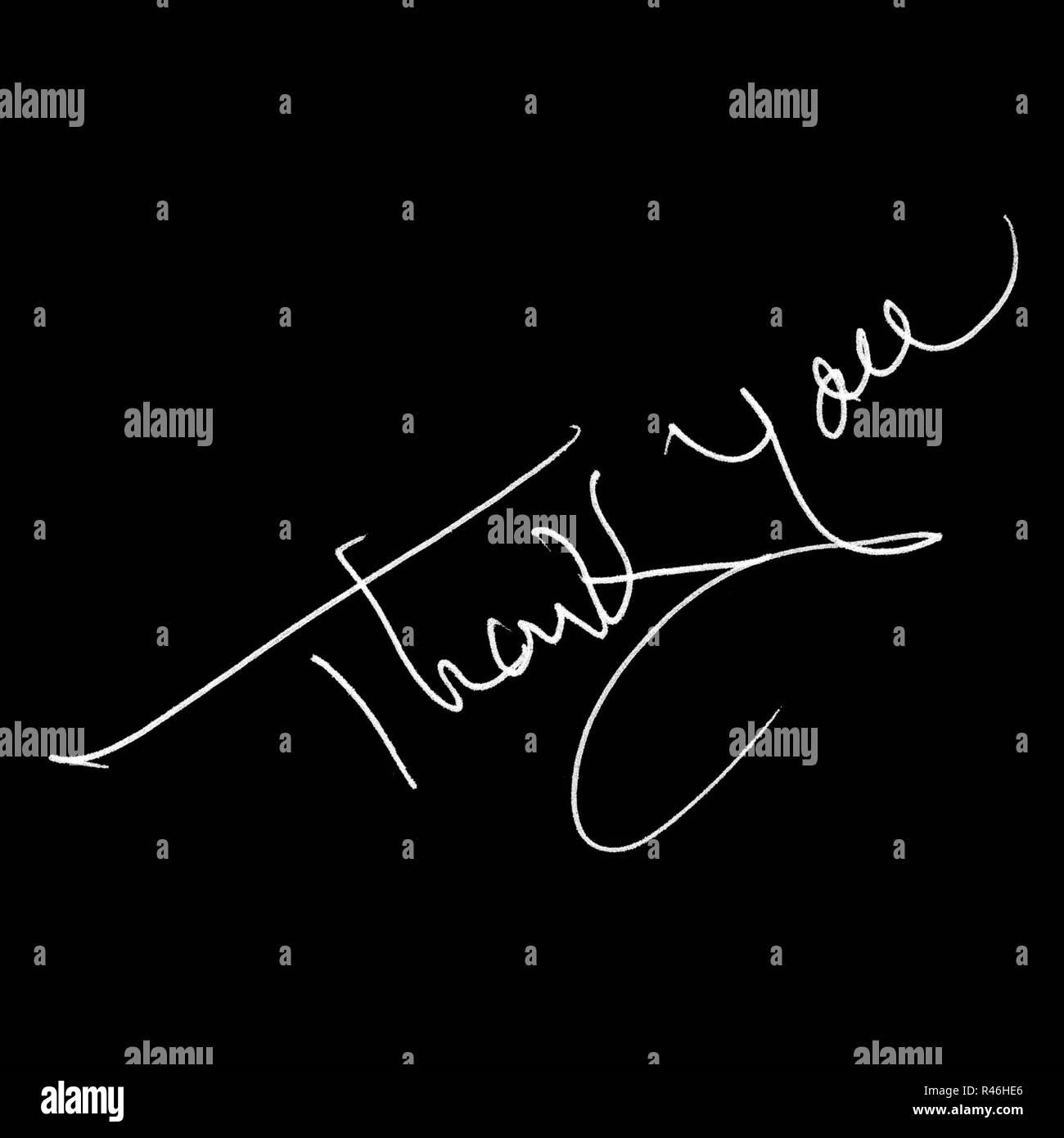 Message de remerciement isolé Photo Stock