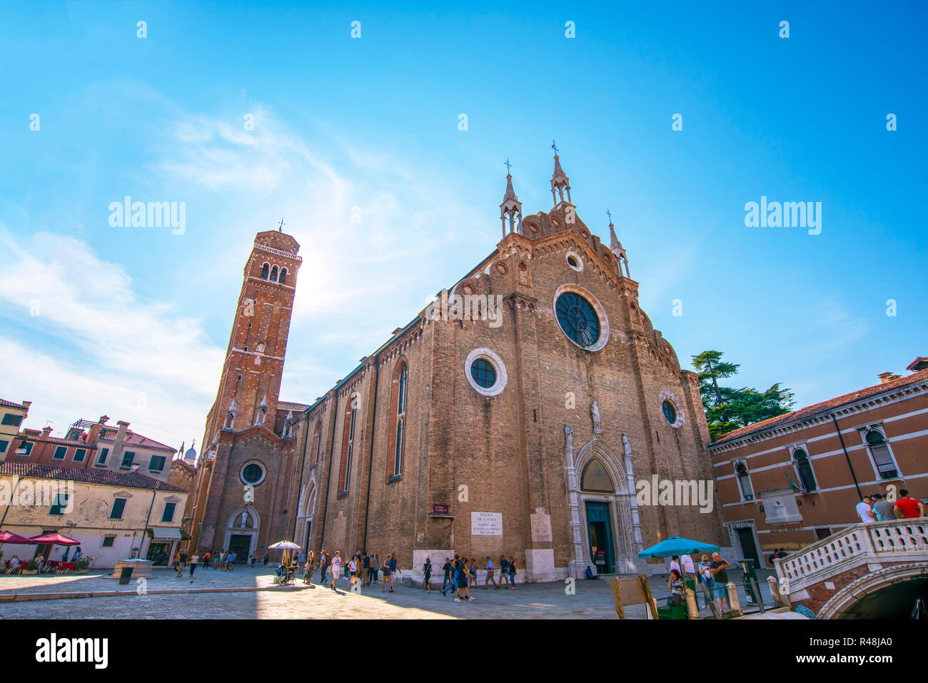 Venise. Septembre 2018 L'Italie. Basilica di Santa Maria Gloriosa dei Frari Banque D'Images