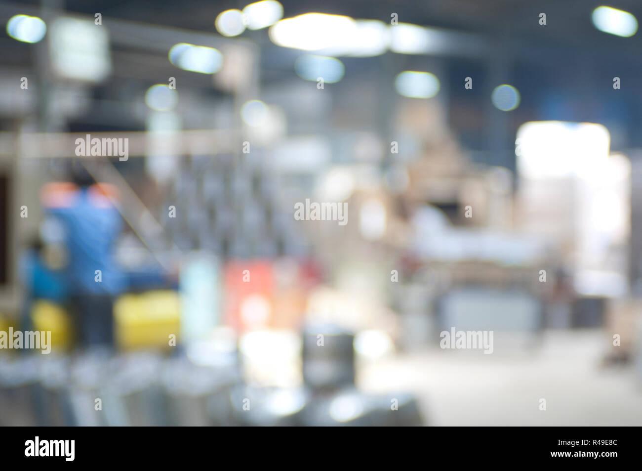 Abstract background image industrielle floue d'un chauffe-eau de l'intérieur de l'usine d'acier Photo Stock