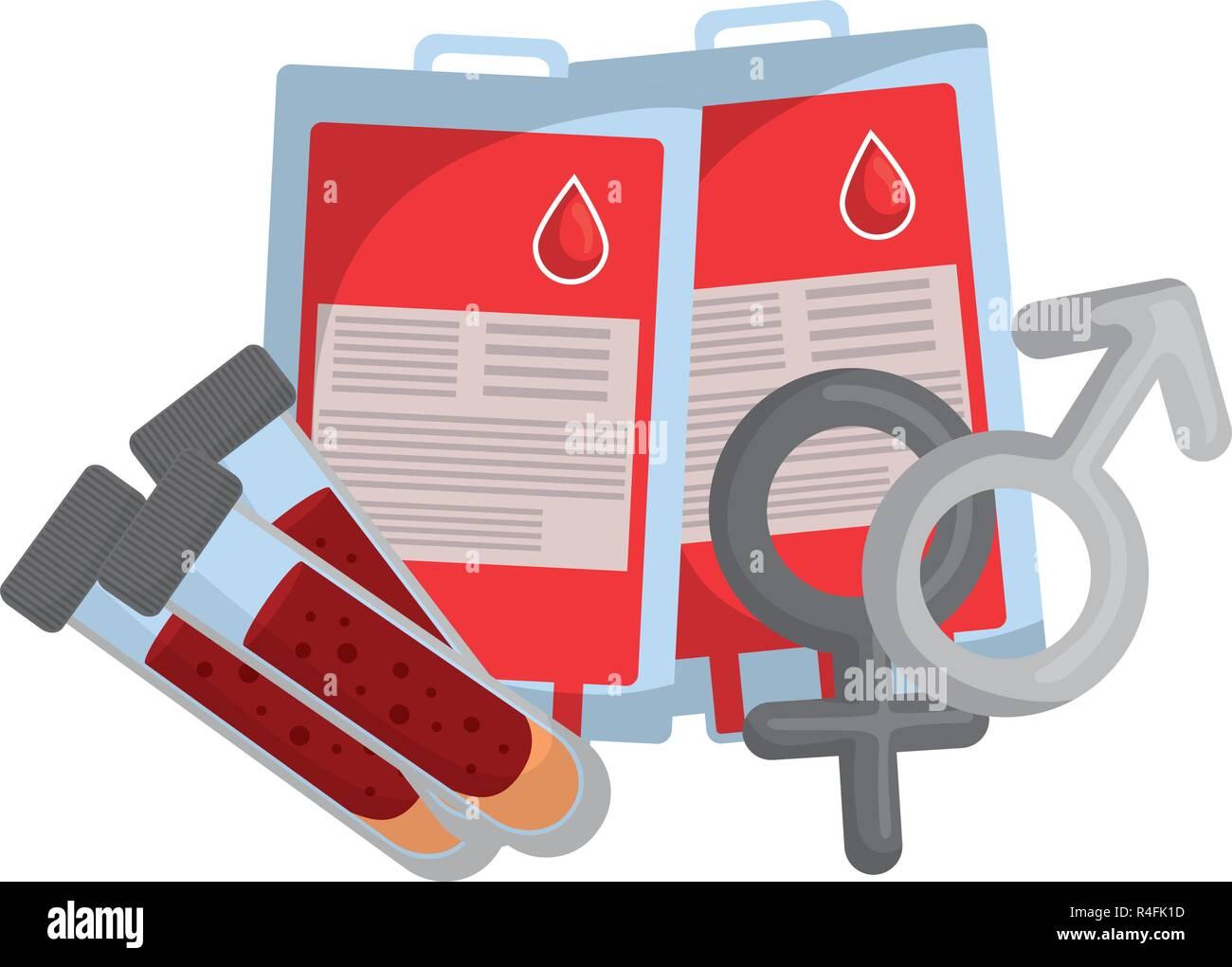 f690bf5cb5 Avec les sacs de sang et test tube hommes vecteur symboles illustration  design