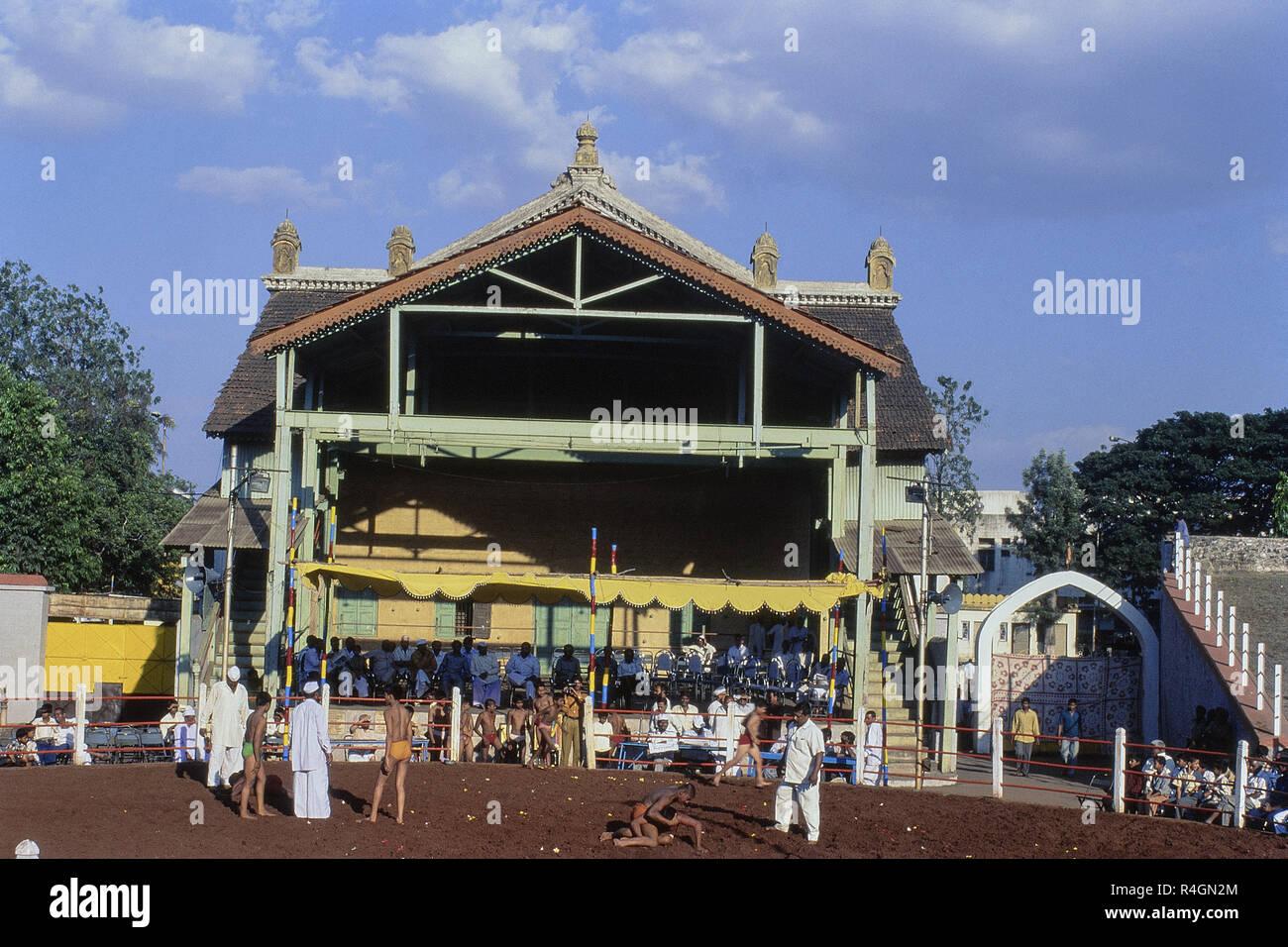Shahu Khasbag wrestling arena, Palace Theatre, Mumbai, Maharashtra, Inde, Asie Photo Stock