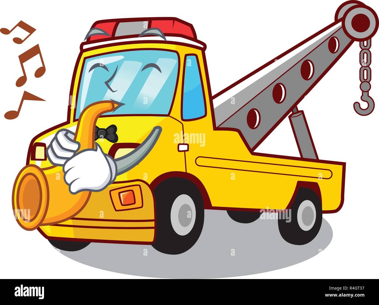 Voiture Animé Sur Dessin Avec Transport Camion De Trompette 0OPkXnw8