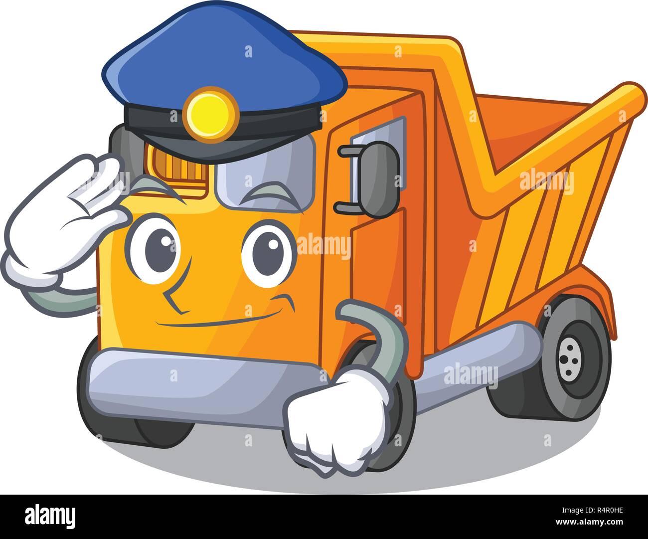 Dessin Anime Sur Le Camion De Police Table En Savoir Vecteurs Et