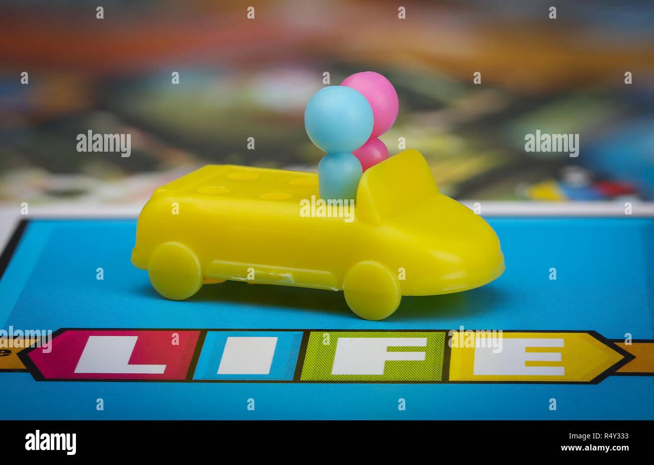 Plaisir de jeu en ligne Banque D'Images